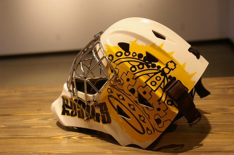 Royals goalie mask casey guenther designs graphic design signs custom vinyl helmet decals